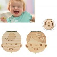 Lesena škatlica za mlečne zobke - PUNČKA