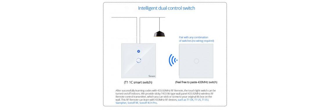 WIFI Stikalo na dotik z možnostjo dodatnih stikal tipk