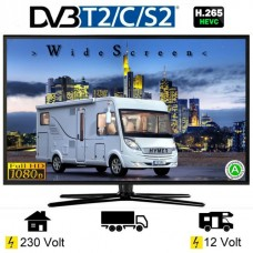 """TV Telefunken 22"""" 12/220v primeren za avtodom z vgrajenim DVD predvajalnikom in USB"""